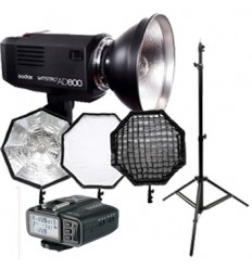 Godox Witstro AD600 (GODOX fit) KIT  Canon, Nikon, Sony mm TTL, HSS, 1-1/256, Ledetal 87-500skud, Kraftigt Pilotlys, 1/220 - 1/1