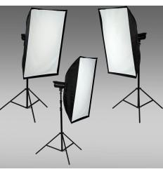 Skræddersyet Oubao Flash sæt m. 3 lampe