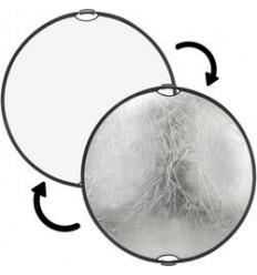 2i1 Reflektor 80cm (Hvid/Sølv) m. håndtag