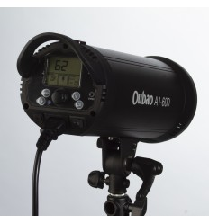 A1-300 - 300watt Digital Flashlampe - Ledetal 58 - LCD display - Indbygget trigger / Mulighed for fjernbetjening