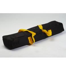 Lille stativ taske m. gul håndtag m. lomme på front
