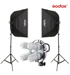Godox Komplet Video softbox sæt  m. 3 lampe