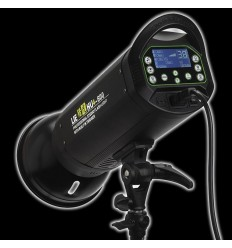 LH-300 - 300watt Digital Flashlampe - Ledetal 58 - LCD display - Indbygget trigger / Mulighed for fjernbetjening 0
