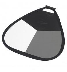Gråkort 56cm håndholdt  (Hvid / Grå / Sort & Sølv) 0