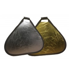 2i1 Reflektor 60 cm håndholdt (Sølv & Guld)