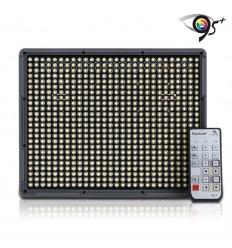 Aputure Amaran 672C - Video LED Lampe - CRI95+ AC/DC, fjernbetjening, knækled, lader og 2 stk 6600mah NP batterier