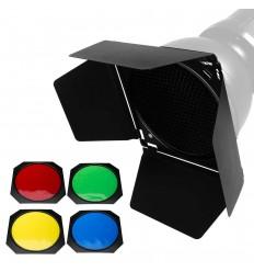 Bresser M-22 Stor Barndoor - med 4 farve filtre