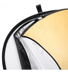 Reflektor 5i1 (Soft, sølv, guld, sort & hvid) Rund Ø80 cm