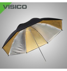 Guld/Sølv Paraply 109cm
