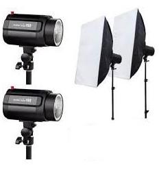 Komplet Universal flash kit m. 2 lamper