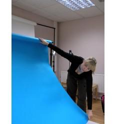Baggrundspapir - farve: 11 Chromablue (Chroma Key)  - ekstra kraftig 6,2 kg kvalitet - knap 200 gr. pr. kvm. 3