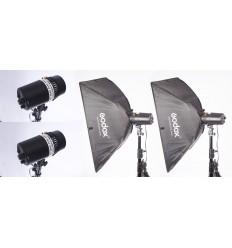 Oubao 150 komplet flash sæt - OBS NU MED 250W 10