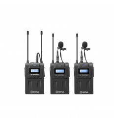 BOYA Mikrofon Knaphuls Pro-K2 x2 Trådløs 3,5mm & XLR