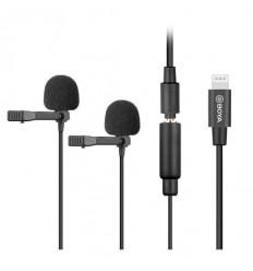 BOYA Mikrofon Knaphuls BY-M2D Lightning Dual iOS 6m.
