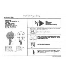 Dansk vejledning til BOLING fastlyslamper (SLH-serien)