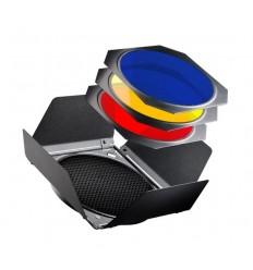Stor Barndoor - med 4 farve filtre