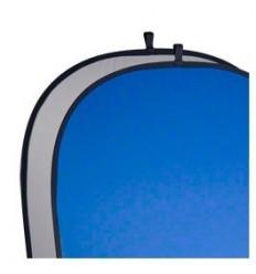 Foldbar Baggrund - Grå/Blå Kraftigt 2 Lags-Stof -Flere størrelser