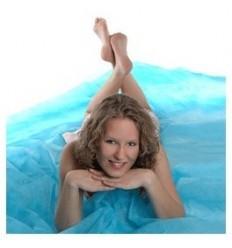 Walimex let stofbaggrund, 3x6m, blå 1