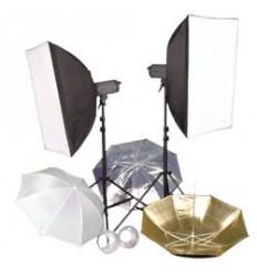 Komplet Flash Kit Med 3 Lamper - OBS nu med 400W samme pris