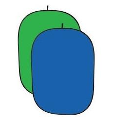 Foldbar Baggrund - Blå/Grøn Kraftigt 2 Lags-Stof  -Flere størrelser