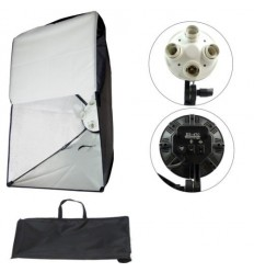 2 x SLH5 Komplet Video pakke - Avanceret - Videolys m boom stativ, lampehoved, softboks 10 x 125watt lavenergi pærer 0