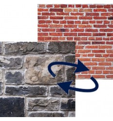 Lastolite foldbar baggrund murstensvæg / stenvæg 1.5x2.1 m.