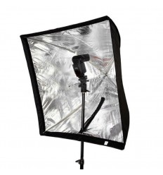 Paraply Softbox 60 x 60 - til speedlights med diffuser 0