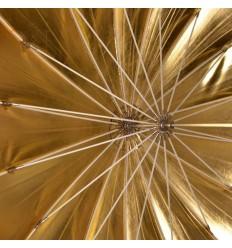 Paraply 130cm Deep Guld  Top kvalitet