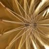 Paraply 130cm Deep Guld  1