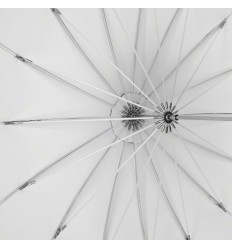 Paraply 165cm Deep Hvid Top kvalitet 0