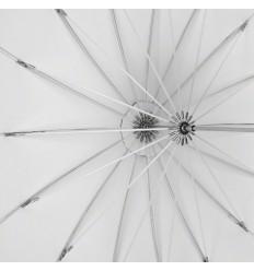 Paraply 180cm Soft hvid Gennemlysning Top Kvalitet