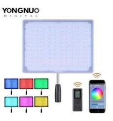 YongNuo LED 600RGB, Fjernbetjening (& mulighed for fjernbetjenings App på mobil). 3200-5500kelvin