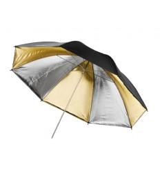 Guld/Sølv Paraply 180cm 0