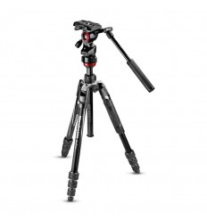 "Manfrotto Stativkit Video Befree Advanced Live Twist Alu Sort ""Fjernlager 2-3dages leveringstid"" 0"
