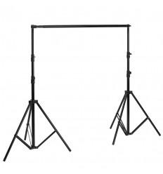 Transportabelt baggrundsstativ 140-360cm x 275 cm sort 0