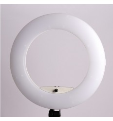 3200-5500 Kelvin : Sort bagpanel ( Yidoblo LED Ring Light 96 watt ) LCD display & Fjerbetjening